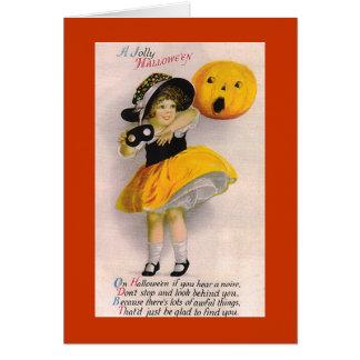 Little Girl Halloween Holiday Card