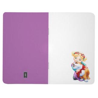 Little Girl Hugging Bulldog Pocket Journal