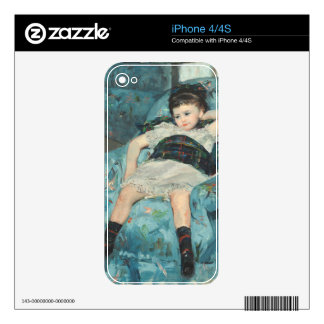 Little Girl in a Blue Armchair, 1878 (oi Decals For iPhone 4