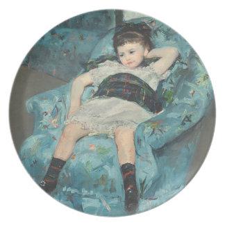 Little Girl in a Blue Armchair 1878 oi Plates