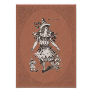 Little Girl in a Charming Victorian Costume Poster
