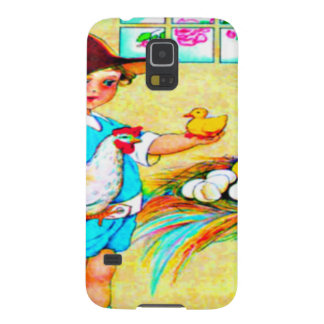 Little girl in a floppy hat with hatching chicks, galaxy s5 case