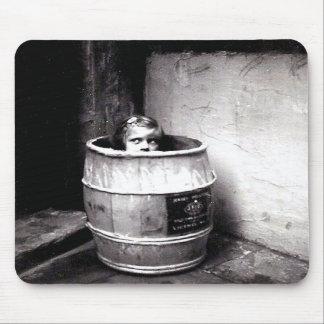 Little Girl in Barrel Mousepad
