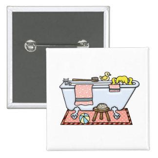 Little Girl in Bathtub Pinback Button