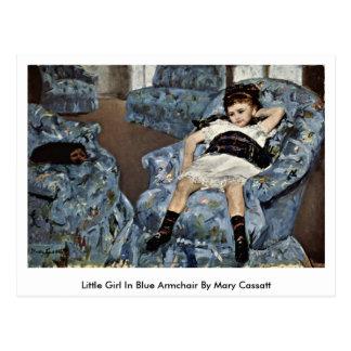 Little Girl In Blue Armchair By Mary Cassatt Post Card