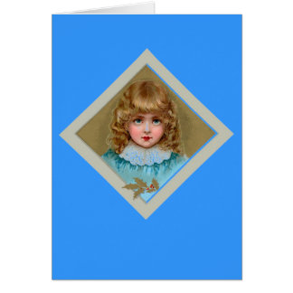 Little Girl in Blue Stationery Note Card