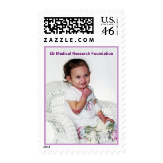 little girl in chair , EB Medical Research Foun... Postage Stamps