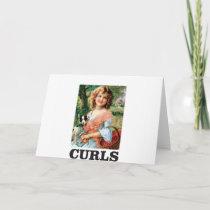 little girl in curls card