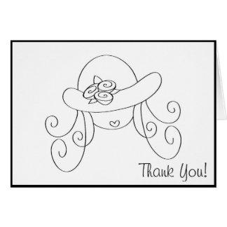 Little girl in hat... card