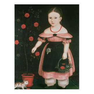 Little Girl in Lavender, c.1840 Postcard