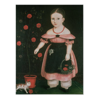 Little Girl in Lavender, c.1840 Poster