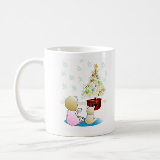 Little Girl in Nightgown Christmas Eve Coffee Mug