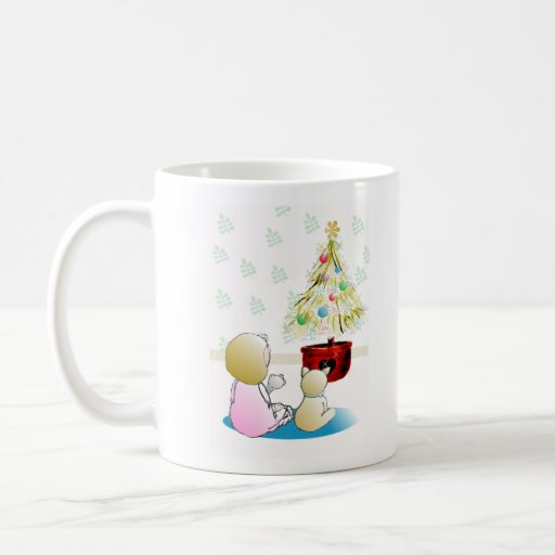 Little Girl in Nightgown Christmas Eve Mugs