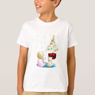 Little Girl in Nightgown Christmas Eve T-Shirt