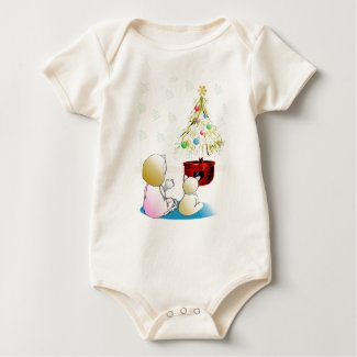 Little Girl in Nightgown Christmas Eve shirt