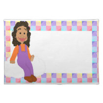 Little Girl in Overalls Placemat
