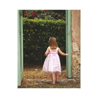 Little Girl in Pink Dress Canvas Print