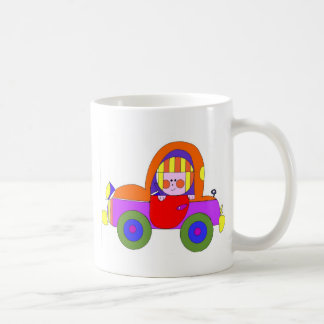 little girl in red car coffee mugs