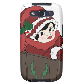 little girl in red hat and sleigh galaxy s3 cases