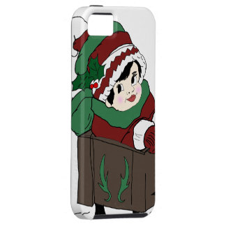 little girl in sleigh iPhone 5 cover