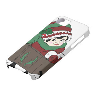 little girl in sleigh iPhone 5 case