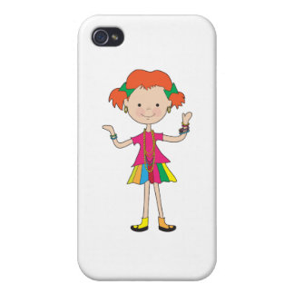 Little Girl Jewelry Cases For iPhone 4