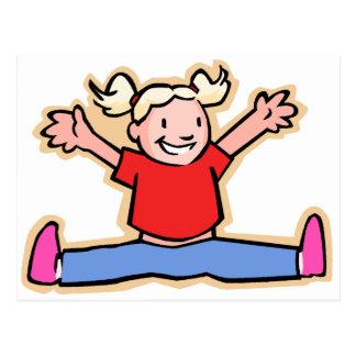 Little Girl Jumping for Joy! Postcard