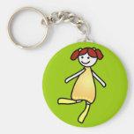 little girl keychain