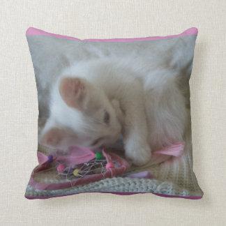 Little Girl Kitty American Mojo Pillow