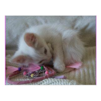 Little Girl Kitty Postcard #2