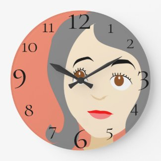 Little Girl Large Clock
