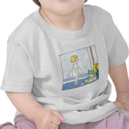 Little Girl Looking In Mirror Shirt