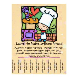 Little Girl loves teaching baking class tear sheet Flyer