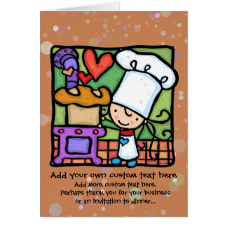 Little Girl loves to bake bread RST Card
