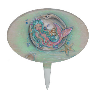 Little girl mermaid cake pick by Renee Lavoie