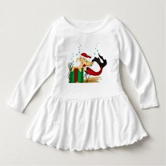 little girl  mermaid santa christmas dress t-shirts