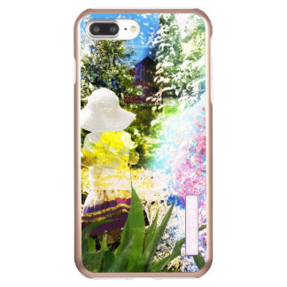 Little Girl Nature Collage Pink Flower Blue Yellow Incipio DualPro Shine iPhone 8 Plus/7 Plus Case