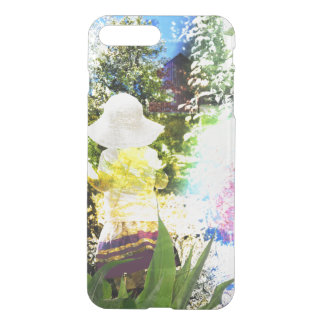 Little Girl Nature Collage Pink Flower Blue Yellow iPhone 8 Plus/7 Plus Case