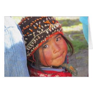 Little girl of Quishuarani Card