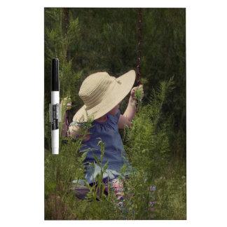 Little Girl on a Swing Dry-Erase Board