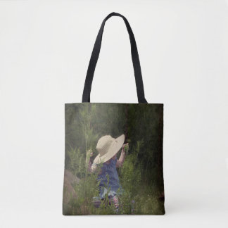 Little Girl on a Swing Tote Bag