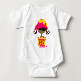 Little Girl on the Beach Baby Bodysuit
