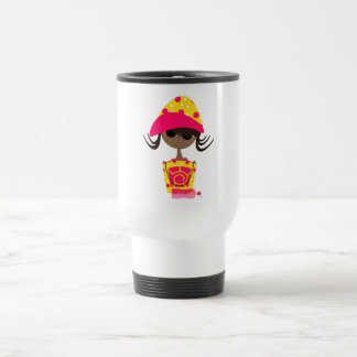 Little Girl on the Beach Travel Mug