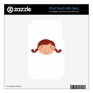 Little girl on white decal for iPod touch 4G