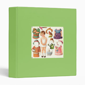 Little Girl Paper Doll Binder