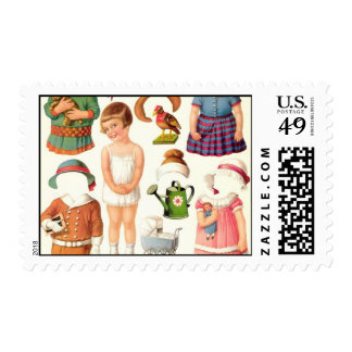 Little Girl Paper Doll Postage