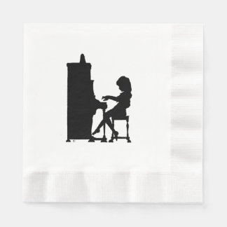 Little Girl Piano Player Napkin
