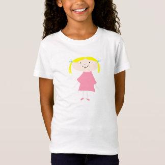 Little girl pink cartoon artowork t-shirt