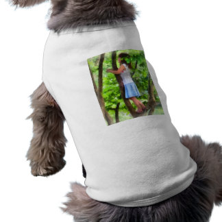 Little Girl Playing in Tree Pet Shirt