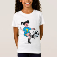 Little Girl Playing Soccer T-Shirt